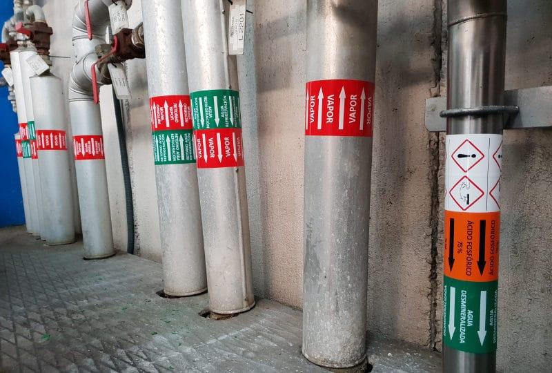 marcado de tuberias industriales