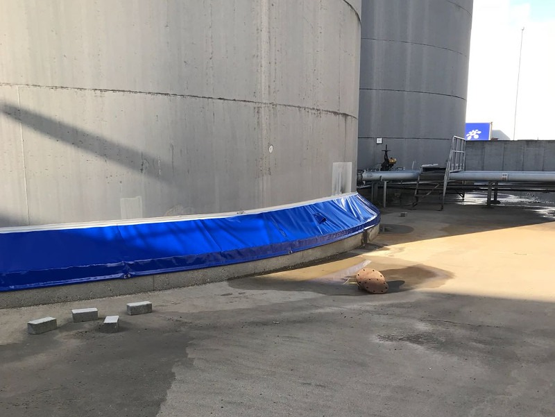 Slide-Skirt instalada en un tanque