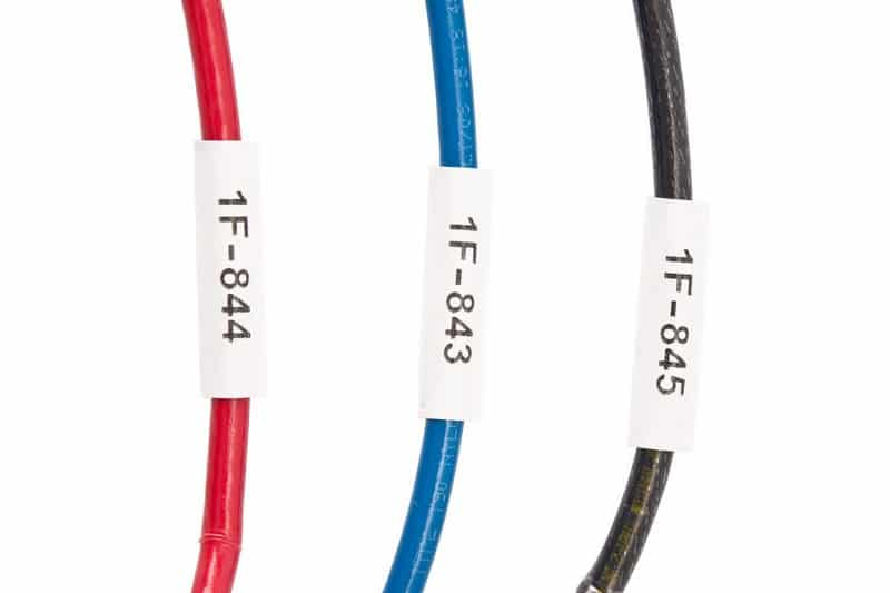 Aplicaciones etiquetadora brady bmp21 - Marcado termorretráctil de cables