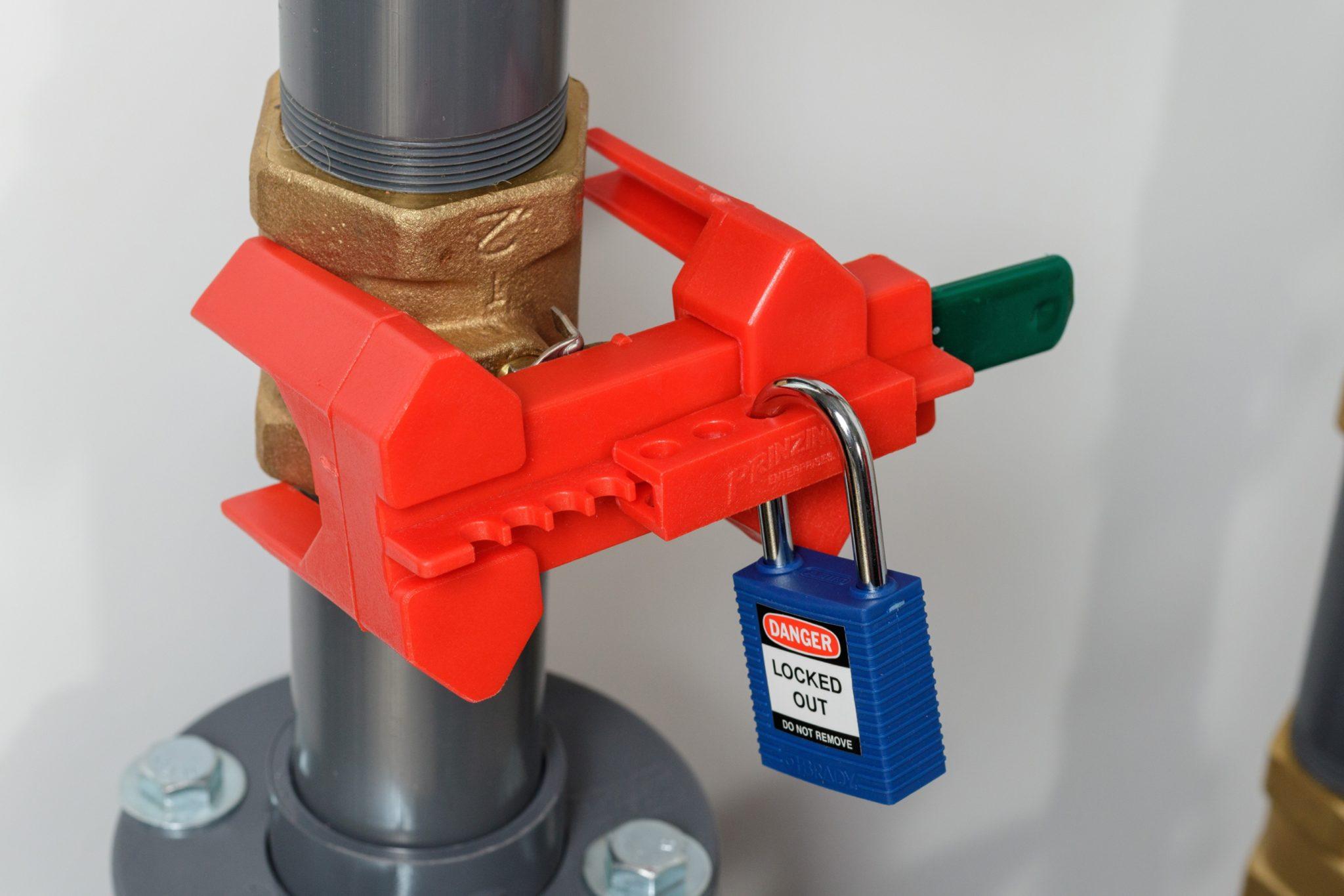 Sistemas de bloqueo de válvulas con palanca