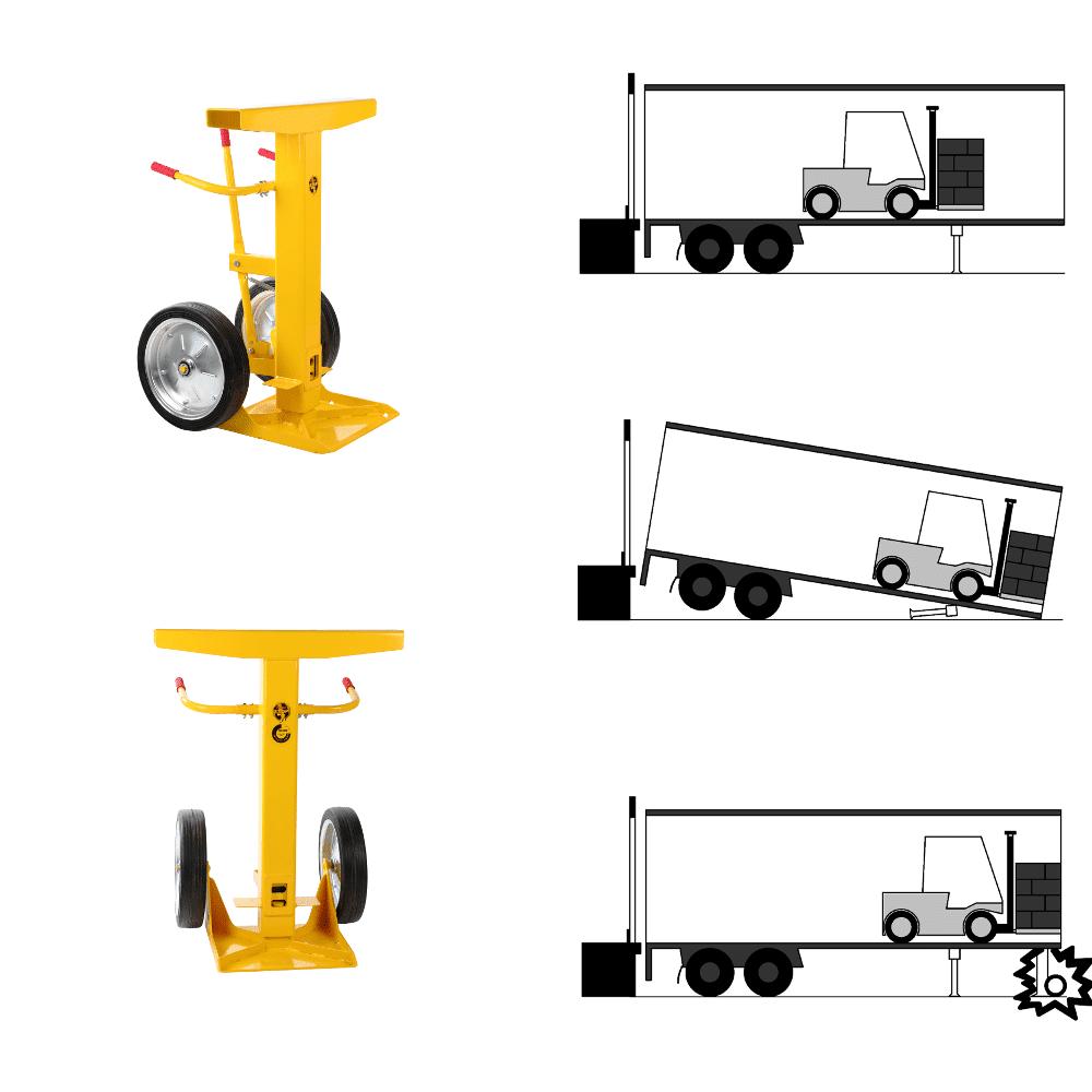 Esquema de la instalación del soporte para trailers