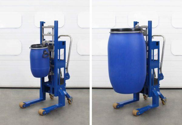 DTP06 - Elevador hidráulico de bidones