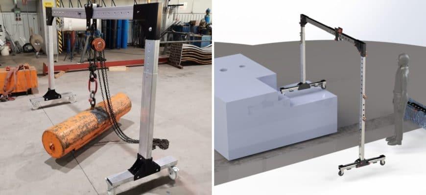 RINOPORT - Pórtico portátil y adaptable para elevación y suspensión de cargas